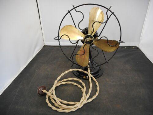 "Vintage Fitzgerald ""Star Rite"" Electric Fan 9"" Diameter-Restored Excellent"