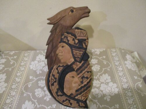 Hand Carved Wooden Bolivian Andean Wall Art