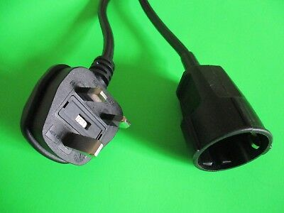 Kaiser 1 gang Euro extension lead to UK plug 3mtr or any length
