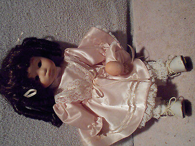 "1990 Seymour Mann Porcelain Doll  12"" tall"