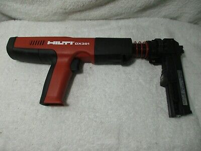 Hilti Dx 351 Powder Actuated Gun Tool W X-mx32 Magazine Tested Works Great