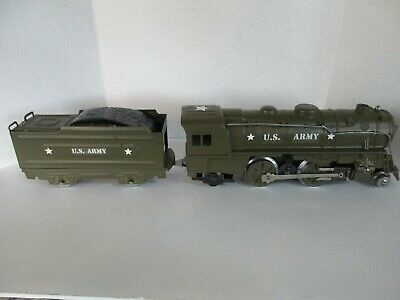 Custom Army Marx 999 Metal Engine and Tender Toy Train O Gauge