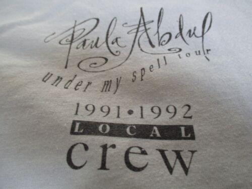 """1991-92 PAULA ABDUL """"Under My Spell"""" CREW Concert Tour (XL) T-Shirt"""