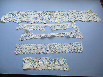 ANTIQUE HONITON  LACE PIECES FOR REPAIR