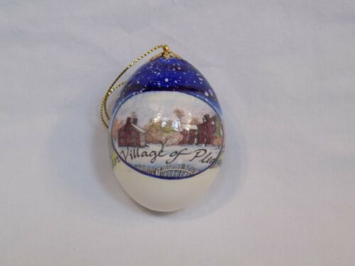 Shaker Village of Pleasant Hill Christmas Egg Ornament Meeting House Trustee KY