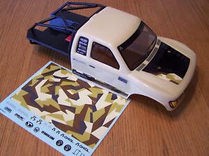 Axial SCX10 II Trail Honcho Tan / Black Truck Body w/ Rear Roll Cage Decal Sheet
