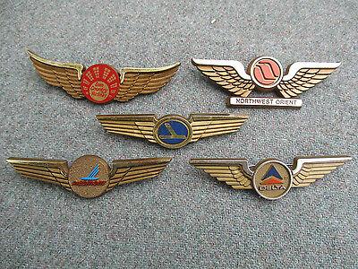Vintage Sun Country  Piedmont  N W  Orient  Delta  Eastern Kids Pilot Wings