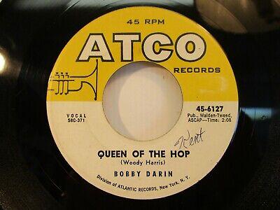 BOBBY DARIN - Queen Of The Hop - Original 1958 Atco 45 Rpm - Top 40 - $1.50