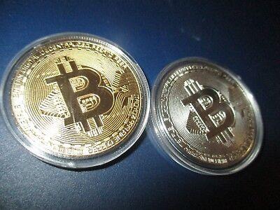 2  Stück Motiv  Sammler Münzen / Medaillen , BTC Design Gold Silber Style Handel ()