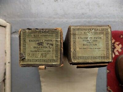 Pianola Piano Rolls 3 x Rare Shop Bulletin rolls 88 note 3 consecutive months