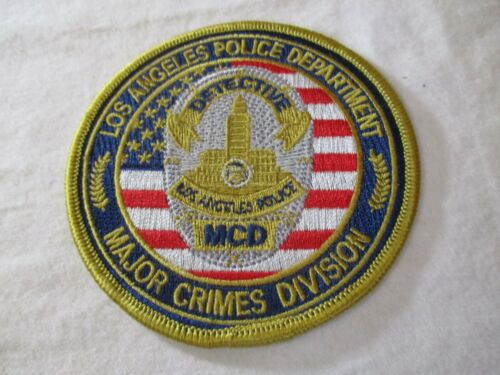 Los Angeles Ca Police Department Major Crimes Division MCD Detective Patch