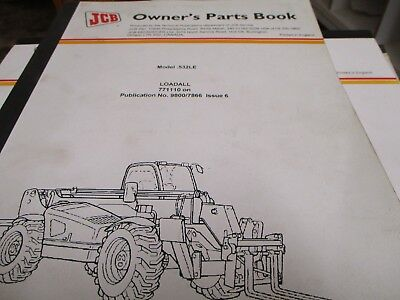 Jcb .532le Loadall Parts Book Manual