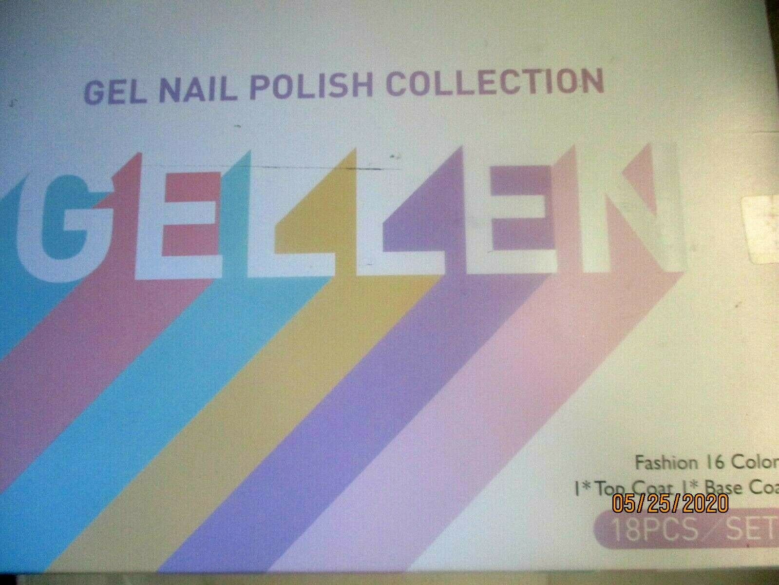 Gellen 16 Colors Gel Nail Polish Set With Top Base Coat - Sp
