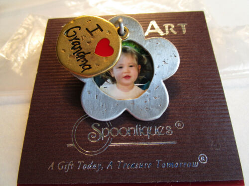 GRANDMOTHER Child Baby PHOTO PIN Brooch, mixed metals USA JJ Jonette signed