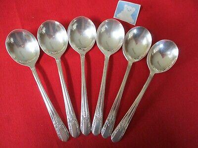Sheffield KINGS Gumbo Soup Spoon Lot 4 Spoons Silverplate