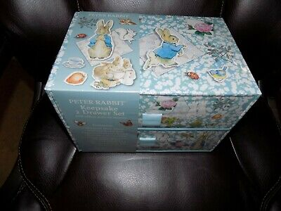 Peter Rabbit Keepsake 2 Drawer set Keepsake Box Photo Album Baby Shower Gift NEW Rabbit Keepsake Box