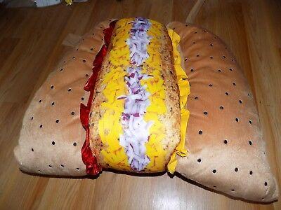 Size XL Extra Large Hot Dog Hotdog Food Pet Halloween Costume New