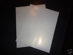 Bulk Clear Sticker Paper Inkjet Printer Label Sheets Water Resistant No Smudge