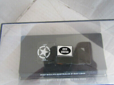 WILLYS ARMY MILITARY JEEP MODEL Maxi Car GREEN 1944 Australia D-Day Boxed