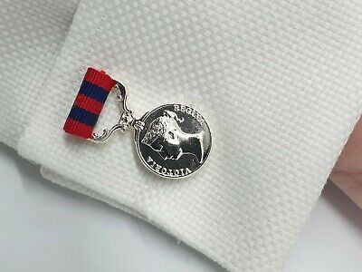 Heritage cufflinks, military, remembrance, India Campaigns, Victorian medals