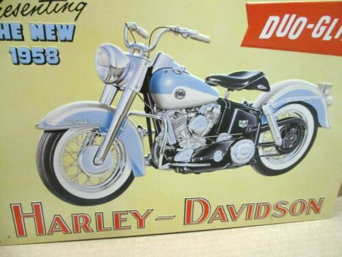 DUO-GLIDE - Harley-Davidson Motorcycle -Presenting the NEW 1958  -SHOWS DETAILS