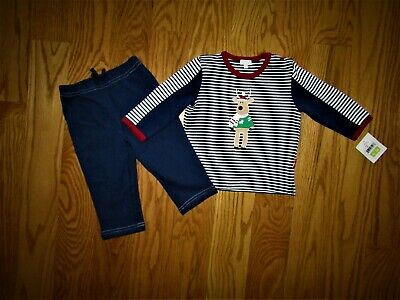 Le Top Baby Boys 2 Piece Outfit Navy Blue Heavy Knit Sweater Pant 12 Mo Boutique