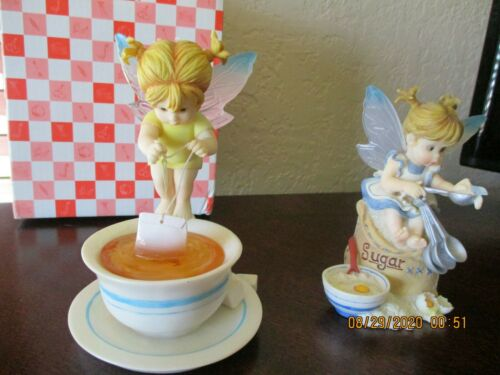 SET OF 2 SUGAR & TEA BAG MY LITTLE KITCHEN FAIRIE PREOWNED WITH  BOX