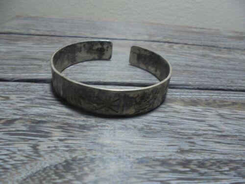 Vintage History of Ireland Sterling Silver 925 Cuff SD Torc Bracelet Celtic