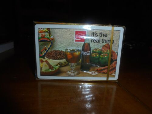 """COCA-COLA 1971 PLAYING CARDS  """"ITS THE REAL THING"""" MINT SEALED"""