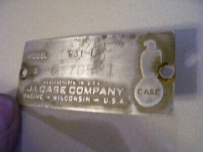 Vintage Ji Case 630 Gas Row Crop Tractor -serial Plate  Screws- 1959