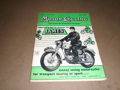 MOTORCYCLING MAGAZINE AUGUST 9 1956.