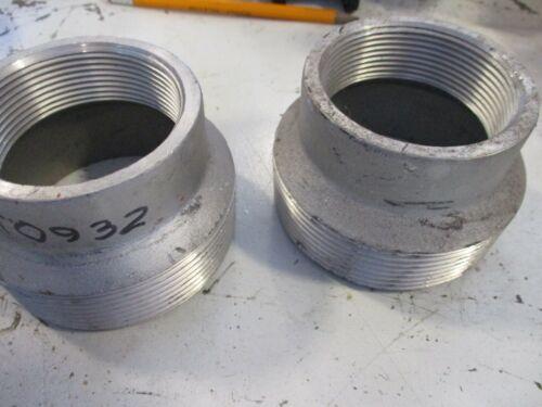 """Threaded Aluminum Reducer 3"""" Male NPT x 2"""" Female NPT Pipe Fitting"""