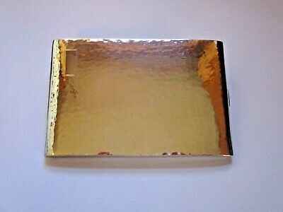 ANTIQUE STERLING SILVER CIGARETTE CASE WITH HAND HAMMERED FINISH