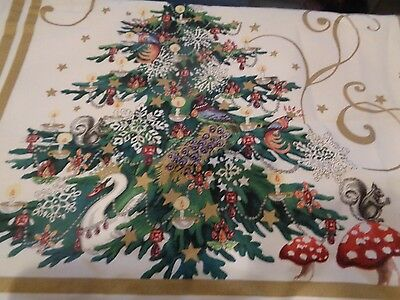 "Williams Sonoma 'Twas the unendingly before Christmas table runner 108"" x 20"" New"
