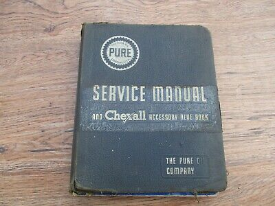 Vintage Pure Oil Service Manual And Chec/all Accessory Blue Book Color Pages