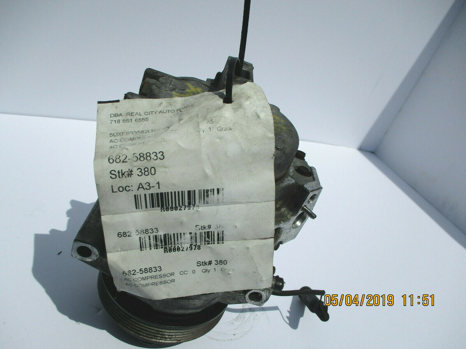 BMW X5 A/C COMPRESSOR ASSEMBLY OEM 27,000 K MILES  FOR 2000 TO 2003