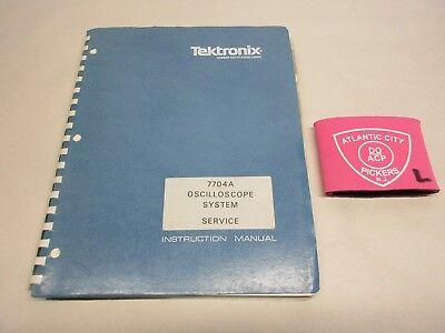 Tektronix 7704a Oscilloscope System Service Instruction Manual