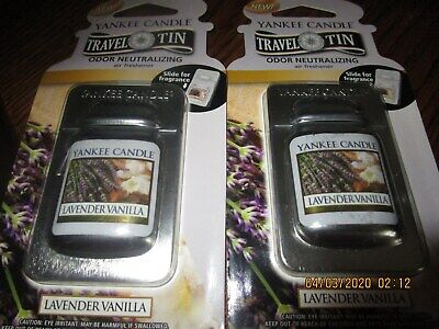 New Yankee Candle Travel Tin Air Fresheners lot of 4