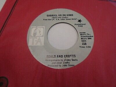 Seals and Crofts Gabriel Go On Home / Robin 45 rpm TA Records (Seals And Crofts Gabriel Go On Home)