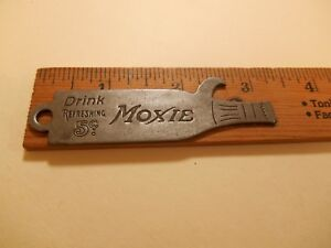 Moxie Soda 5 Cents Bottle Shaped Bottle Opener