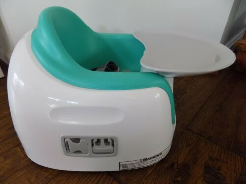 Green Blue Bumbo 3-in-1 Multi Baby Toddler Seat with Tray Safety Belt Teal