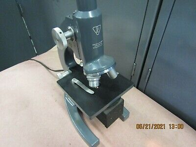 Vintage Bausch Lomb Micro-slide Viewer Microscope With 2 Objectives 530