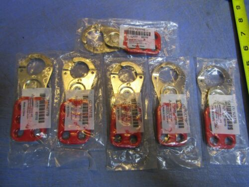 "Lot of 6 Grainger Lockout Hasp, Snap-On Style 1"" Lockout Hasp Style Steel 1U177B"