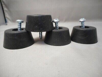 Set Of 4 Large Hd Rubber Feet For Generators Spkr Cabs Amps Etc 4 Mtg Screws
