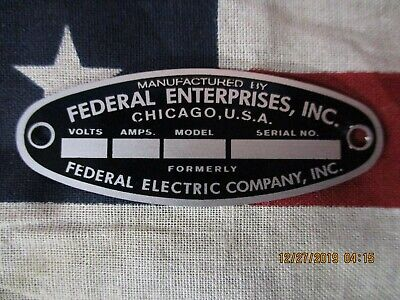 Federal Enterprise Replacement Badge Model 18 Solar Ray 19 Propello Ray