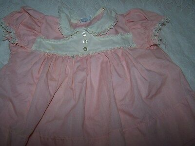 True Vintage Baby Girl Bryan Dress  Pink With White Lace  Reborn