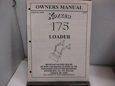 Koyker 175 Loader Owners Manual