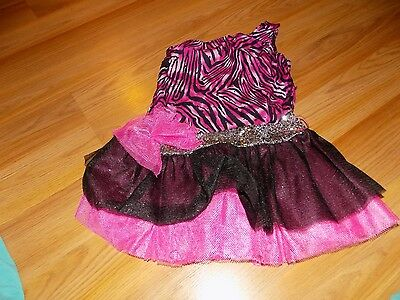 Size Ages 3-6 Melissa & Doug Rock Star Halloween Costume Dress Pink Black Animal ()