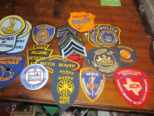 law enforcement and first responders patches