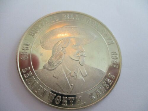 BUFFALO BILL CODY DAYS 1969 COMMEMORATIVE SOUVENIR COIN LEVENWORTH KANSAS S059